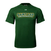 Under Armour Dark Green Tech Tee-Saint Leo University