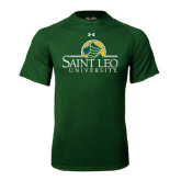Under Armour Dark Green Tech Tee-Saint Leo University - Institutional Mark