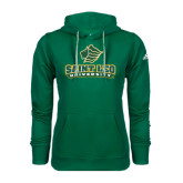 Adidas Climawarm Dark Green Team Issue Hoodie-Saint Leo University - Official Logo
