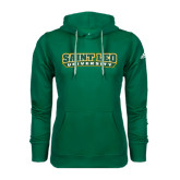 Adidas Climawarm Dark Green Team Issue Hoodie-Saint Leo University