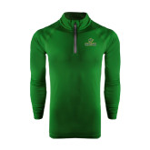 Under Armour Dark Green Tech 1/4 Zip Performance Shirt-Saint Leo University - Official Logo