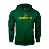 Dark Green Fleece Full Zip Hoodie-MySaintLeo