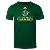 Adidas Dark Green Logo T Shirt-Saint Leo University - Official Logo