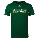 Adidas Dark Green Logo T Shirt-Saint Leo University