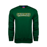 Dark Green Fleece Crew-Saint Leo University