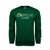 Dark Green Fleece Crew-Alumni