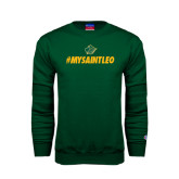 Dark Green Fleece Crew-MySaintLeo