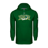 Under Armour Dark Green Performance Sweats Team Hoodie-Baseball Crossed Bats Design