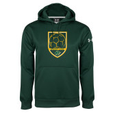 Under Armour Dark Green Performance Sweats Team Hoodie-Soccer Swoosh Design