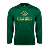 Syntrel Performance Dark Green Longsleeve Shirt-Saint Leo University - Official Logo