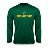 Syntrel Performance Dark Green Longsleeve Shirt-MySaintLeo