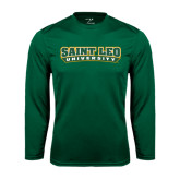 Performance Dark Green Longsleeve Shirt-Saint Leo University