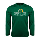 Syntrel Performance Dark Green Longsleeve Shirt-Saint Leo University - Institutional Mark