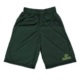 Midcourt Performance Dark Green 9 Inch Game Short-Saint Leo University - Official Logo
