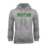 Grey Fleece Hoodie-Saint Leo University