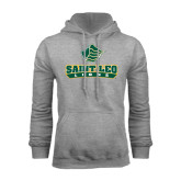 Grey Fleece Hoodie-Saint Leo Lions