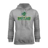 Grey Fleece Hoodie-Saint Leo University - Official Logo