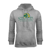 Grey Fleece Hoodie-Saint Leo University - Institutional Mark