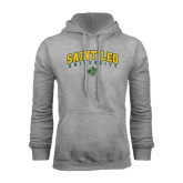 Grey Fleece Hoodie-Arched Sait Leo University w/ Lion Head