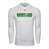 Under Armour White Long Sleeve Tech Tee-Saint Leo University