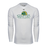 Under Armour White Long Sleeve Tech Tee-Saint Leo University - Institutional Mark