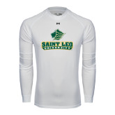 Under Armour White Long Sleeve Tech Tee-Saint Leo University - Official Logo