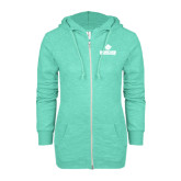 ENZA Ladies Seaglass Marled Full Zip Hoodie-Saint Leo University - Official Logo