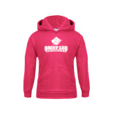 Youth Raspberry Fleece Hoodie-Saint Leo University - Official Logo