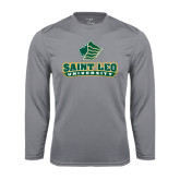 Performance Steel Longsleeve Shirt-Saint Leo University - Official Logo