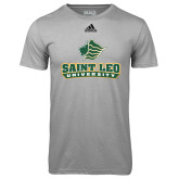 Adidas Climalite Sport Grey Ultimate Performance Tee-Saint Leo University - Official Logo