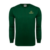 Dark Green Long Sleeve T Shirt-Saint Leo University - Official Logo