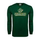Dark Green Long Sleeve T Shirt-Saint Leo University - Official Logo