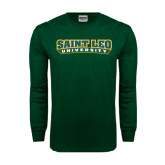 Dark Green Long Sleeve T Shirt-Saint Leo University