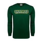 Dark Green Long Sleeve T Shirt-Saint Leo University