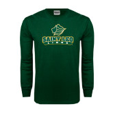 Dark Green Long Sleeve T Shirt-Saint Leo Lions
