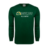 Dark Green Long Sleeve T Shirt-Alumni