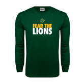 Dark Green Long Sleeve T Shirt-Fear The Lions