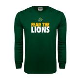 Dark Green Long Sleeve T Shirt-Fear The Lions