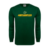 Dark Green Long Sleeve T Shirt-MySaintLeo