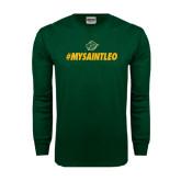 Dark Green Long Sleeve T Shirt-MySaintLeo