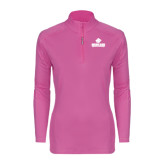 Ladies Syntrel Interlock Raspberry 1/4 Zip-Saint Leo University - Official Logo