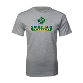 Grey T Shirt-Saint Leo University - Official Logo