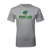 Grey T Shirt-Saint Leo University - Official Logo