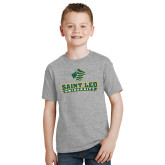Youth Grey T-Shirt-Saint Leo University - Official Logo