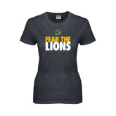 Ladies Dark Heather T Shirt-Fear The Lions