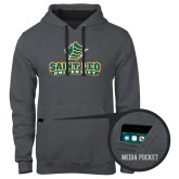 Contemporary Sofspun Charcoal Heather Hoodie-Saint Leo University - Official Logo