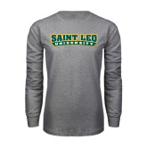 Grey Long Sleeve T Shirt-Saint Leo University