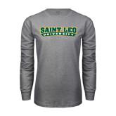 Grey Long Sleeve T Shirt-Saint Leo University