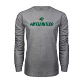 Grey Long Sleeve T Shirt-MySaintLeo