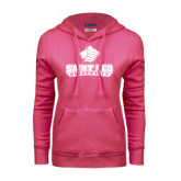 Fuchsia Fleece Hoodie-Saint Leo University - Official Logo